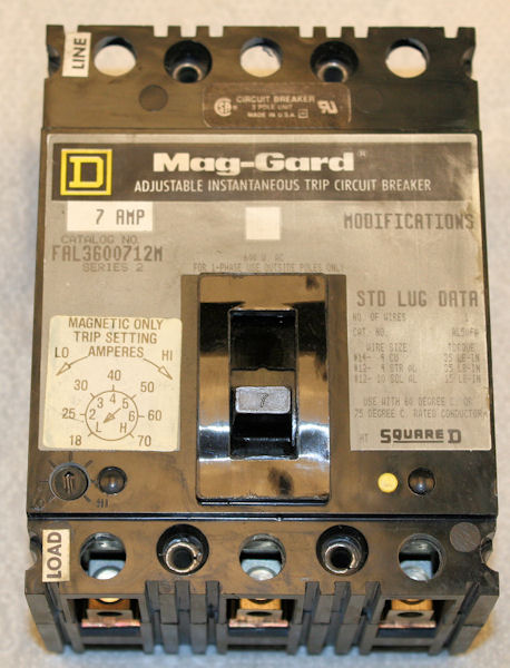 Used Square D Mag Gard Fal3600712m Adjustable