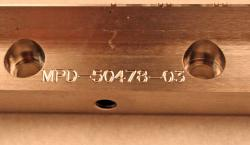 Used 32 Custom Stainless Steel 10-Lane Striping Slot Die Lips MPD-50478-03 - Photo 3