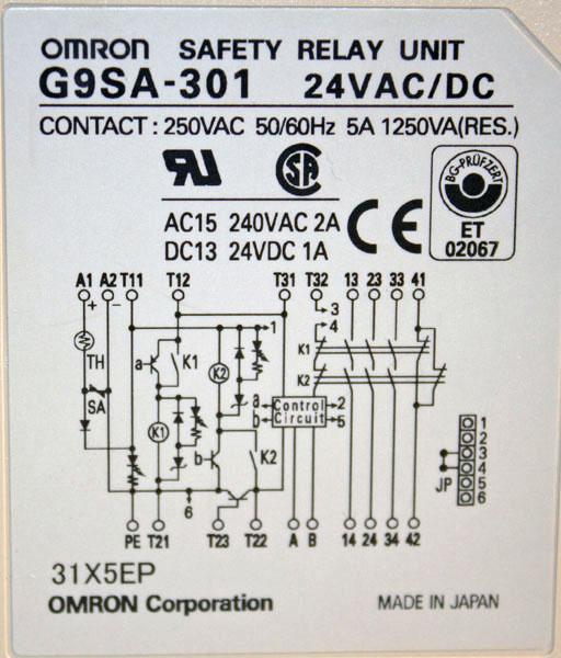 Used Omron G9SA-301 Safety Relay on