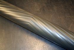 Used Custom 58.5 x 5.125 Aluminum Chevron Grooved Spreader Roll - Photo 2