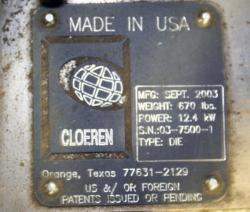Used 12 Cloeren Epoch IV Triple Manifold Extrusion Die - Photo 4